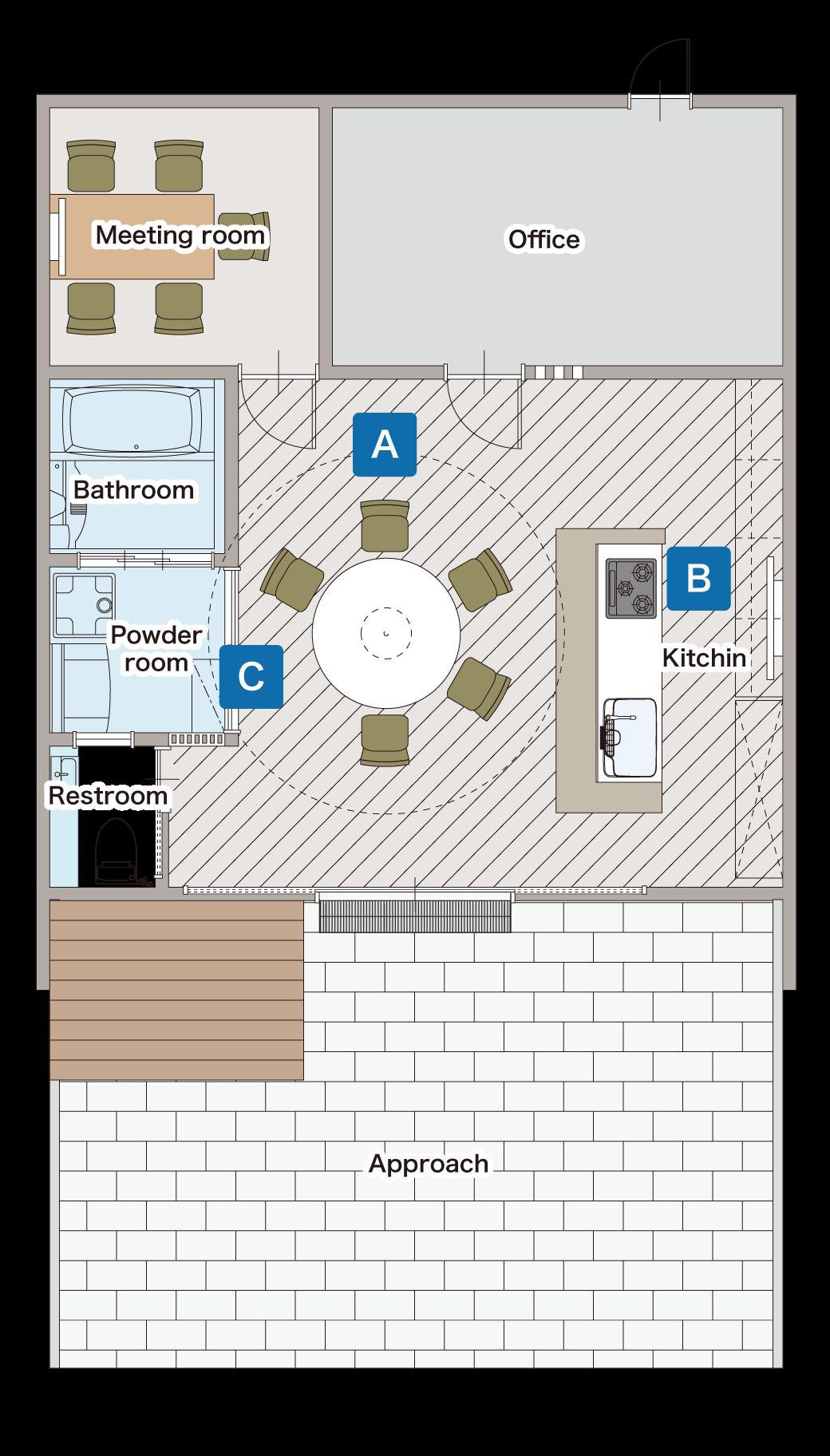 モデルルーム間取り図